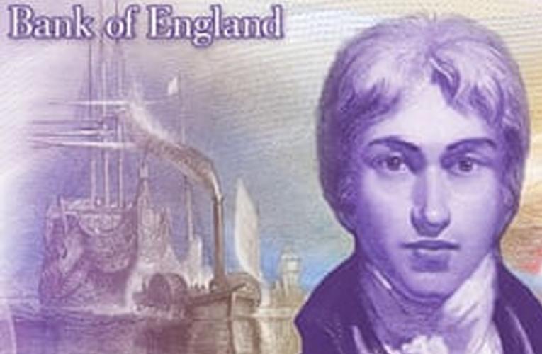 Nova nota de £ 20 tem o retrato de JMW Turner