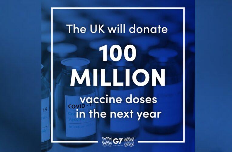 Reino Unido vai doar 100 milhões de doses de vacina contra o coronavírus